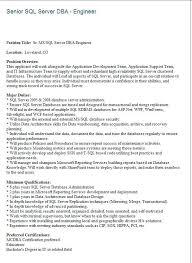 Sql Skills Resumes Superb Sample Sql Server Dba Resume Best Sample Resume Template