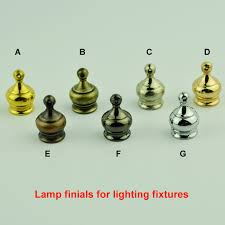 Decorative Lamp Finials 24PCSLOT TableFloor Lamp Finial M24 Inner Tooth Nut Electroplating 20