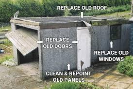 garage roof repair. garage roof repairs in glasgow and throughout scotland repair m
