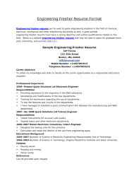 Fresher Resume For Mechanical Engineer Free Resume Example And