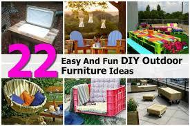 easy diy furniture ideas. Simple Furniture Easy Fun Diy Outdoor Furniture Ideas For