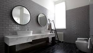 bathroom tile grey subway. The Bathroom Hold Ultra Sleek And Effortlessly Cool Appearance Due To Dove Gray Shade Subway Tiles. Tiles Work As A Magnificent Backdrop Tile Grey B