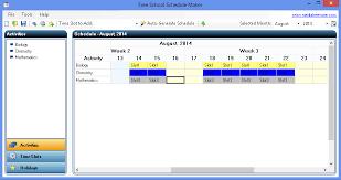 Free School Schedule Maker Media Freeware Download
