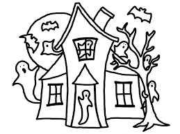 Small Picture Haunted House Coloring Pages to Print Coloring Page for Kids