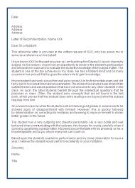 Letter Or Recommendation Format How To Write A College Letter Of Recommendation Tirevi