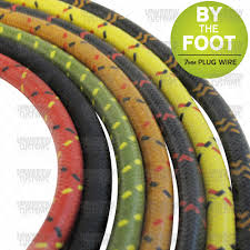 motorcycle electrical & wiring lowbrow customs Spark Plug Wire Harness cloth spark plug wire 7mm sold by the foot assorted colors available jeep patriot spark plug wire harness
