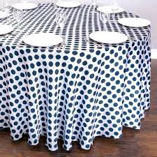 red white polka dot tablecloth table cloth round satin navy blue and inch