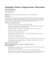Sales Supervisor Resume Retail Supervisor Resume Sales Management