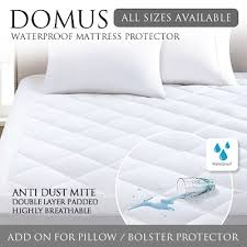 waterproof mattress protector. DOMUS Fitted Waterproof Mattress Protector + Pillow / Bolster Waterproof Mattress Protector