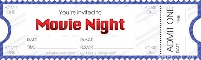 date night invitation template diy tickets for movie night ticket template movie tickets and