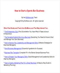 small business plans examples 7 sample bar business plans examples in word pdf
