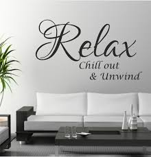 relax chill out unwind e wall art sticker