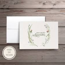 Personalized Sympathy Thank You Cards Funeral Thank You Cards Personalized Sympathy Acknowledgement Etsy