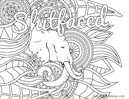 Small Picture Free Printable Coloring Page Shitfaced Swear Word Coloring