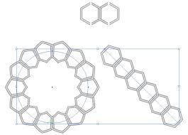 六角形の鎖のようなイラレパターンブラシ 無料配布イラレ