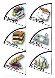 4 Person Chore Chart Rotating Chores Chart 4 Person
