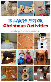 this collection of gross motor activities are perfect for the holidays when your kids have