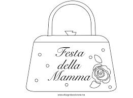 Festa Della Mamma Borsetta Disegni Da Colorare