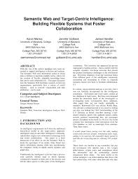 PDF) Semantic web and target-centric intelligence: Building flexible  systems that foster collaboration
