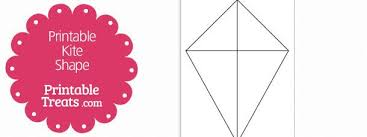 Free Printable Kite Template Free Printable Kite Shape Template Projects To Try Pinterest