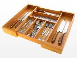 Kitchen Drawer Organizer Expandable Flatware And Drawer Organizer Bamboo Kitchen Storage