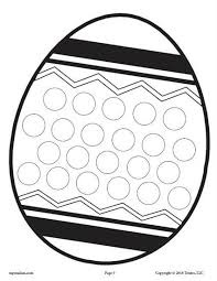 12 Free Spring Do A Dot Printables Easter Theme Pinterest