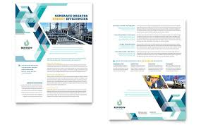 marketing slick template oil gas company datasheet template word publisher