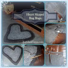 heartshaped rag rugs