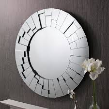 raundin round frameless faceted wall mirror zoom