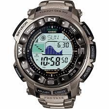 men s watches casio pathfinder triple sensor titanium men s watch