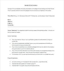 Resume Formats For Freshers Sample Resume Format For Civil Engineer ...