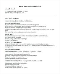 sample sales associate resumes resume sample retail sales associate nice ideas sample retail