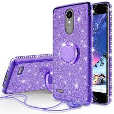lg k20 plus, v, harmony, k10 2017 glitter bling fashion case - LG K20 Plus Case, V, K10 2017, Harmony Glitter Cute