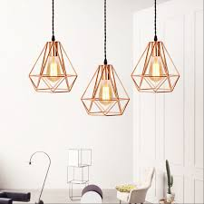 china industrial modern geometric cage pendant light with rose gold finished china hanging lamp pendant lamp