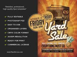 Retro Yard Sale Flyer Template Flyerheroes