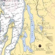 Michigan Torch Lake Bellaire Nautical Chart Decor