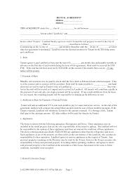 Lease Agreement Form Free Free Landlord Tenant Lease Agreement