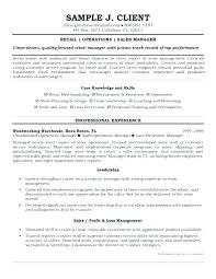 construction operation manager resume sample resume of store manager
