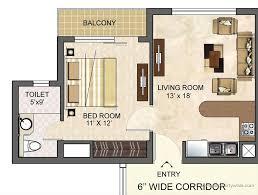 Studio Apartment Floor Plans D Decor  Bedroom Apartment Floor - Small apartment floor plans 3d