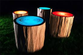 nature inspired furniture. natureinspired furniture log lamps tree rings nature inspired