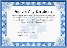 Scholarship Certificate Template For Word 11 Scholarship Certificate Templates Free Word Pdf