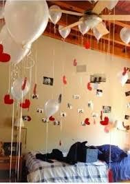 birthday bedroom balloon decoration