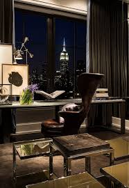 building a home office. Executive Chair --A Long Desk, Sculptural Leather Desk And Incredible Empire State Building View Make For An Inspiring Home Office. A Office