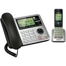 vtech cs6649 dect 6 0 expandable corded cordless phone with answering system and caller id