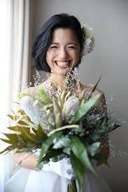 ナチュラルでキュートボブの花嫁ヘアスタイルが抜け感たっぷりで素敵