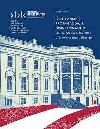 berkman klein center releases report on media coverage of the  partisanship propaganda and disinformation report cover