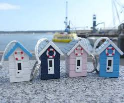 Beach Hut Decorative Accessories Beach Hut Keyring Dorset 41