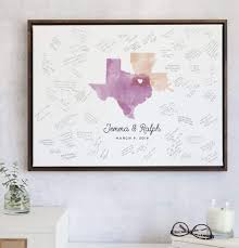 Guest Book Template Awesome Wedding Guest Book Alternative With Watercolor Map