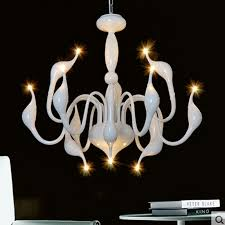 italian design classic chandeliers swan chandelier lamps dinning lamp lighting modern crystal chandelier white iron chandelier