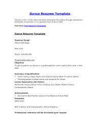 Dance Resume Templates Best of Example Of A Dance Resume Examples Of Resumes Pertaining To Resume